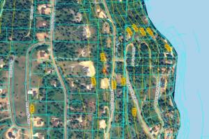 Aerial Topo - Harbor View Estates - Lake Coeur d'Alene - Idaho