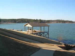 Covered dock gives you a shady spot
