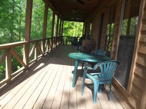 Covered back deck - the spot to relax