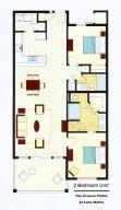90 Crowne Pointe 1 F floor plan - color