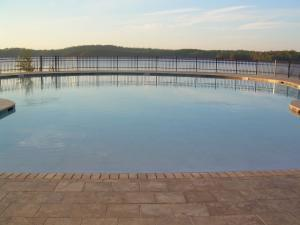Pool fades into view of Lake Martin