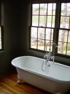 Claw foot tub in main bath