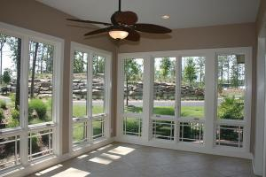 Sunroom - with back to water,
