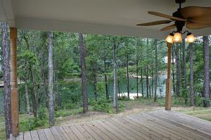 View from back deck, looking over lake