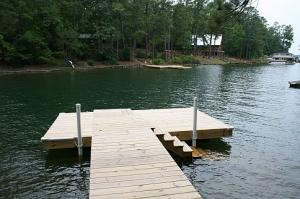 Pier and floating dock