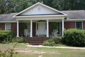 Closeup of front porch